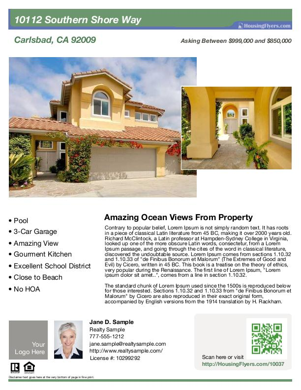 Home For Sale Flyer  CityEsporaCo